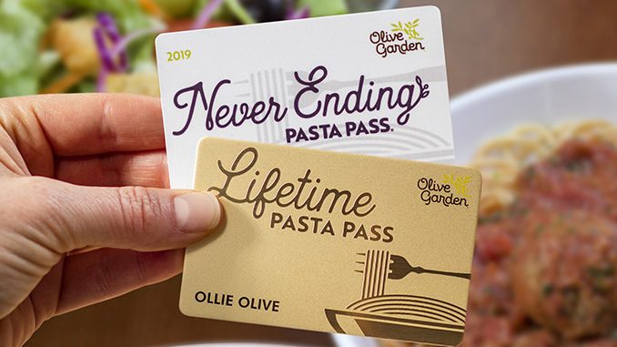 Olive Garden Unveils First-Ever Lifetime Pasta Pass As Part Of 2019 Never Ending Pasta Pass Event