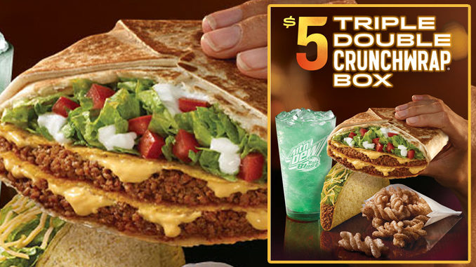 Taco Bell Brings Back The Triple Double Crunchwrap As Part Of $5 Box Deal