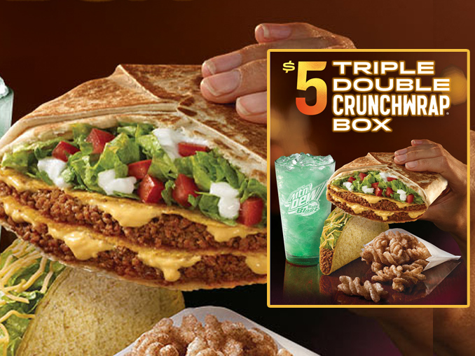 Taco Bell Brings Back The Triple Double Crunchwrap As Part Of 5 Box Deal Chew Boom