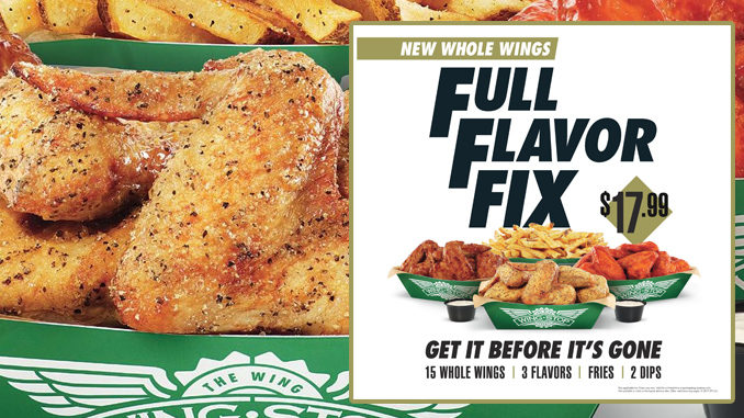 Wingstop Introduces Classic Whole Wings As Part Of New Full Flavor Fix Deal