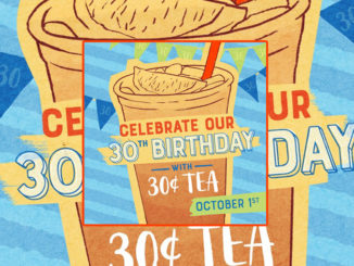 30-Cent Tea At McAlister's Deli On October 1, 2019