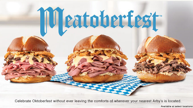 Arby's Launches 3 New Beer-Inspired Sandwiches As Part Of 2019 Meatoberfest Collection