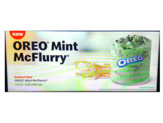 McDonald's Spotted Selling New New Oreo Mint McFlurry