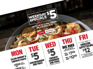 TGI Fridays Puts Together New Weekday Specials Menu Starting At $5