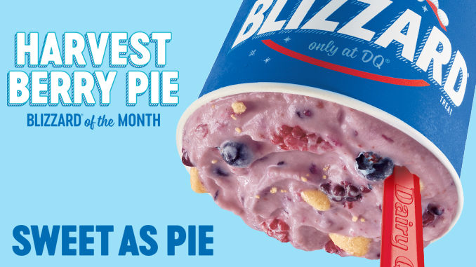 Harvest Berry Pie Is The Blizzard Of The Month At Dairy Queen For October 2019
