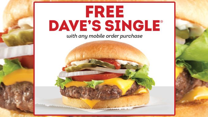 Wendy's Offers Free Dave's Single With Any Mobile Order Purchase For Limited Time