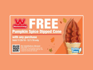 Free Pumpkin Spice Dipped Cone at Wienerschnitzel With Any Purchase From November 29 To December 1, 2019
