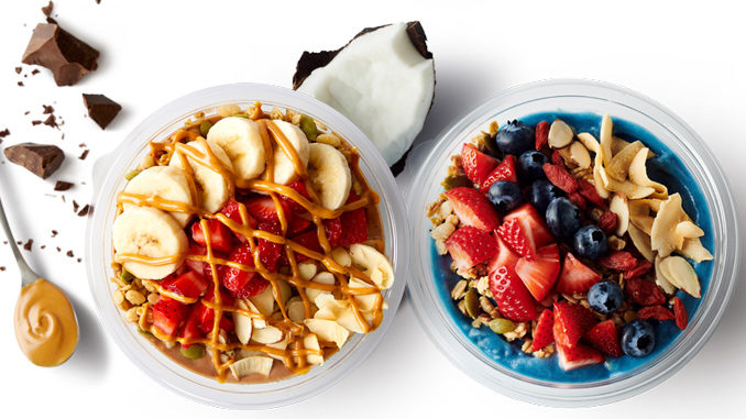 Jamba Introduces New PB Wow Cacao And Vanilla Blue Sky Smoothie Bowls