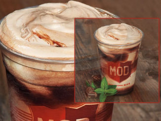 Mod Pizza Spins New Chocolate Peppermint Shake