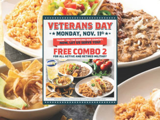 On The Border Offers Free Meal For All Active And Retired Military On November 11, 2019