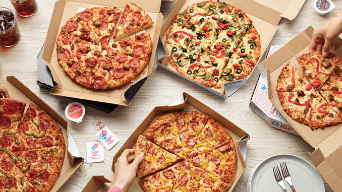 Domino's Offers 50% Off Menu-Priced Pizzas Ordered Online Through December 8, 2019