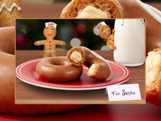 Krispy Kreme Introduces New Gingerbread Glazed Original Filled With Cheesecake, And Welcomes Back Gingerbread Glazed Doughnut