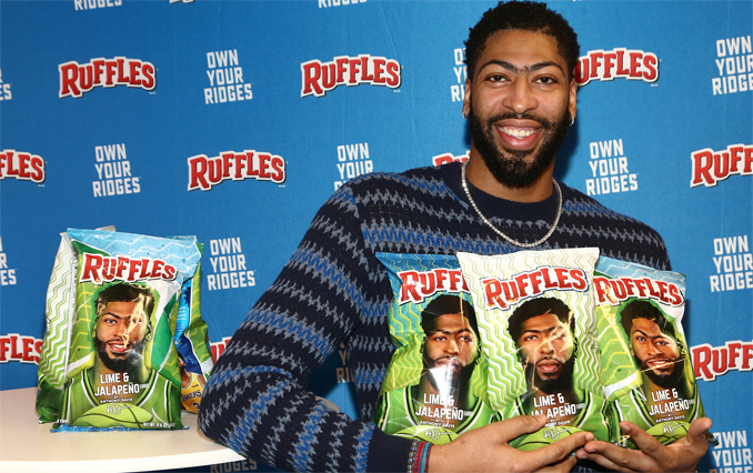 Anthony Davis With New Ruffles Lime & Jalapeño Chips