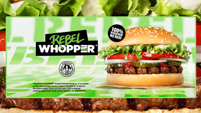 Burger King Launches New Plant-Based Rebel Whopper In The UK