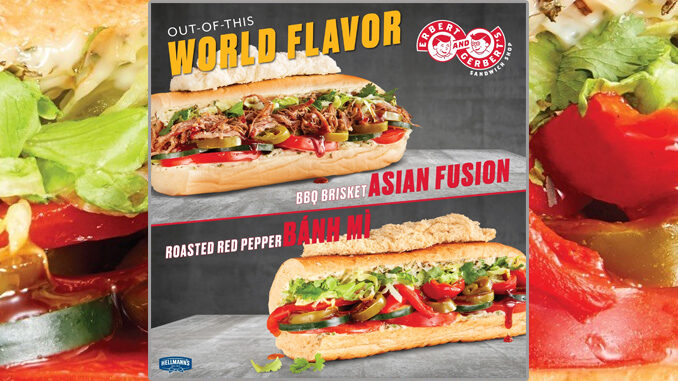 Erbert & Gerbert's Inroduces New Roasted Red Pepper Banh Mi Sandwich, And New BBQ Brisket Asian Fusion Sandwich