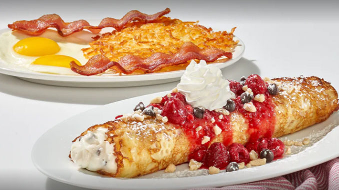 IHOP Adds New Raspberry Cannoli Crepes