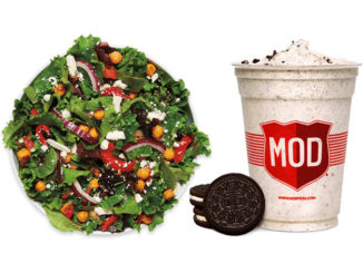 Mod Pizza Debuts New Roasted Sriracha Chickpea Salad, Welcomes Back Oreo Cookie Milkshake