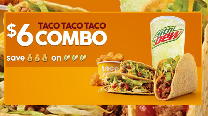 Taco John's Welcomes Back $6 Taco Taco Taco Combo Deal