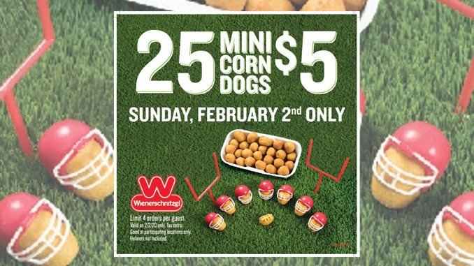Wienerschnitzel Offers 25 Mini Corn Dogs For $5 On February 2, 2020