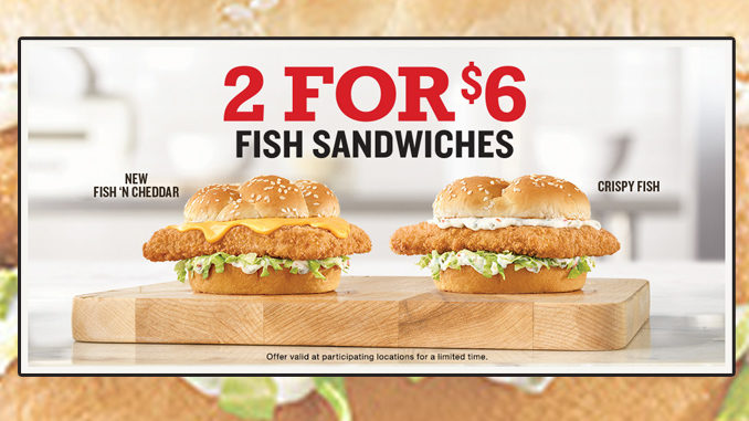Arby's Offers 2 Fish Sandwiches For $6 For A Limited Time