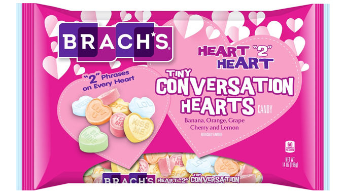 "Brach's Introduces New Heart ""2"" Heart Conversation Hearts"