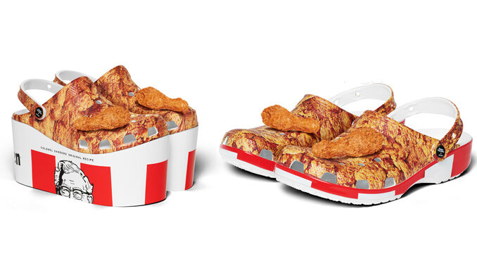 KFC Unveils Limited-Edition Chicken-Inspired Clogs By Crocs