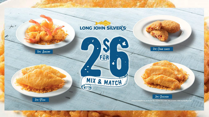Long John Silver's Offers New 2 for $6 Mix And Match Deal As Part Of Larger 2020 Lenten Specials