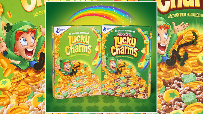Lucky Charms Cereal Has A New Gold Coin Marshmallow In Celebration Of St. Patrick's Day 2020