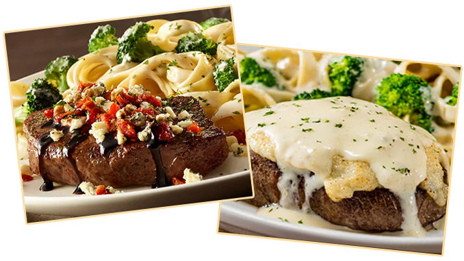 Olive Garden Adds New Gorgonzola Topped Sirloin And New Parmesan Alfredo Crusted Sirloin