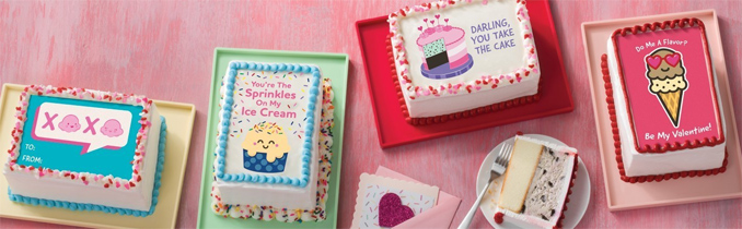 Valentine's Day Card Cakes