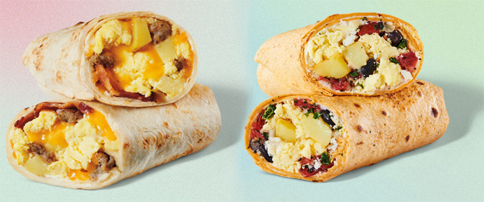 New breakfast wraps