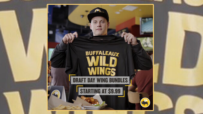 Buffalo Wild Wings Puts Together New NFL Draft Day Wing Bundles Starting April 23, 2020