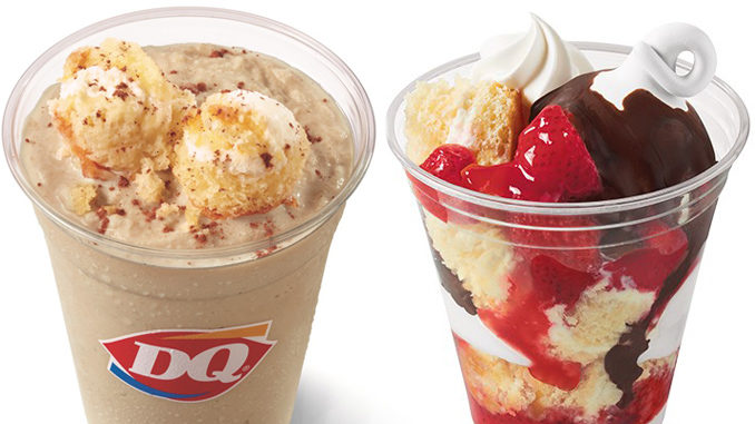 Dairy Queen Adds New Tiramasu Cake Shake And New Dipped Strawberry Cake Cupfection