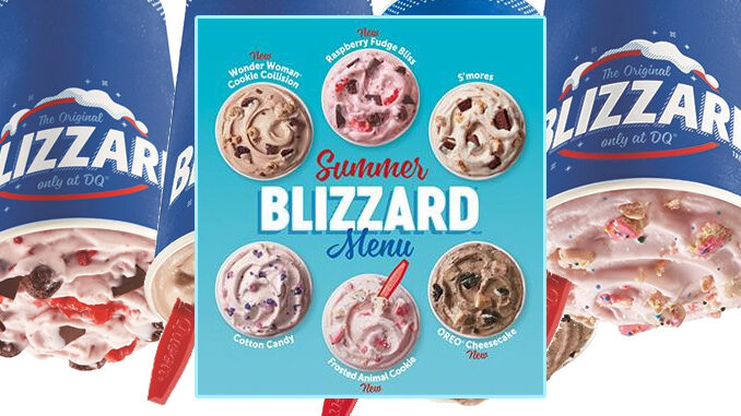 Dairy Queen Unveils New 2020 Summer Blizzard Menu