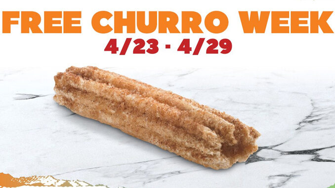 Del Taco Celebrates Free Churro Week Through April 29, 2020
