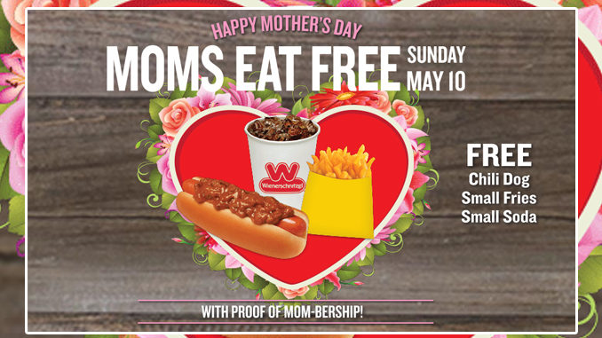 Moms Eat Free At Wienerschnitzel On Sunday, May 10, 2020