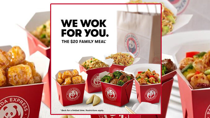 Panda Express Welcomes Back $20 Family Meal Through May 17, 2020