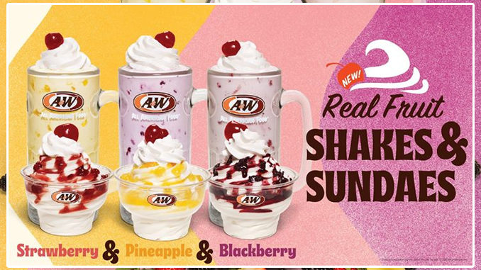 A&W Debuts New Real Fruit Shakes And Real Fruit Sundaes