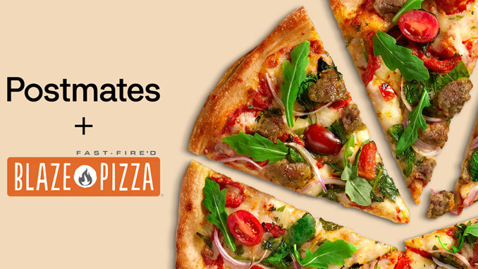 Blaze Pizza Offers Free Delivery Via Postmates On Orders Of $15 Or More For A Limited Time