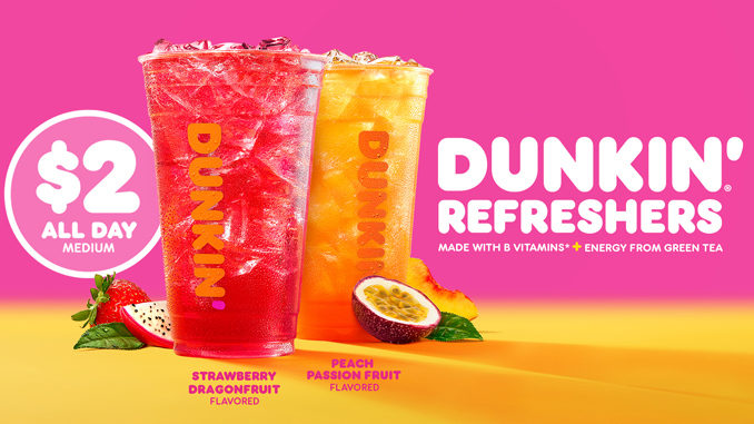 Dunkin' Pours New Dunkin' Refreshers Iced Beverages