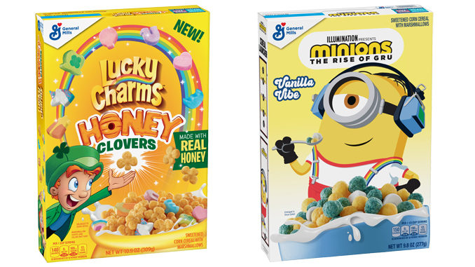 General Mills Adds New Lucky Charms Honey Clovers And New Minions Cereal