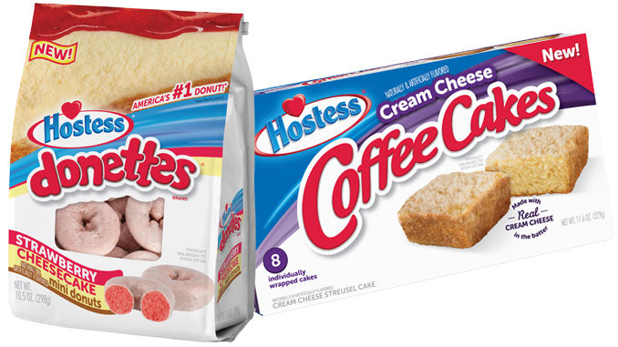Hostess Debuts New Strawberry Cheesecake Flavored Donettes And Cream Cheese Coffee Cakes