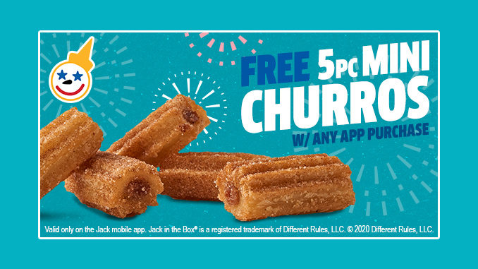 Jack In The Box Offers Free 5-Piece Mini Churros Deal With Any App Purchase On July 3, 2020