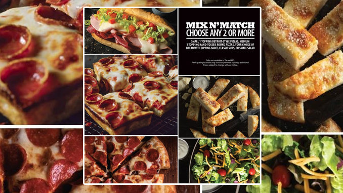 Jet's Pizza Puts Together New Mix And Match Any 2 Or More Deal
