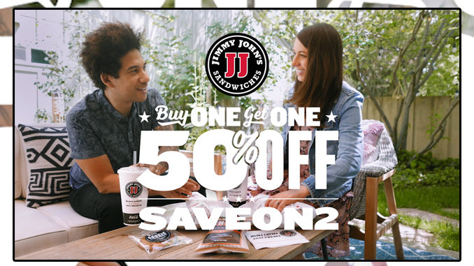 Jimmy John's Offers Buy One Sandwich Online, Get One 50% Off Through July 5, 2020