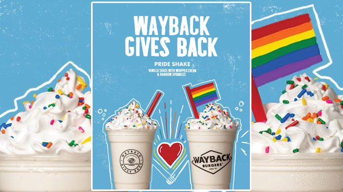 Wayback Burgers Spins New Pride Shake For Pride Month