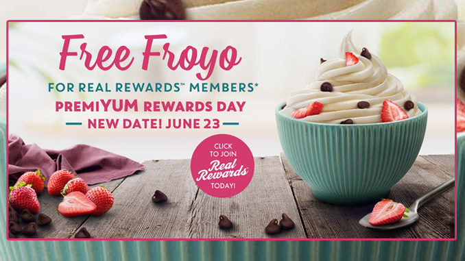 Yogurtland Offers Free Frozen Yogurt For All Real Rewards Members On June 23, 2020