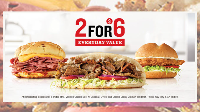 Arby's Offers Gyros And More As Part Of Revamped 2 For $6 Everyday Value Deal