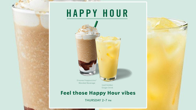 Buy One, Get One Free Handcrafted Drink At Starbucks On July 9, 2020, From 2 To 7 PM
