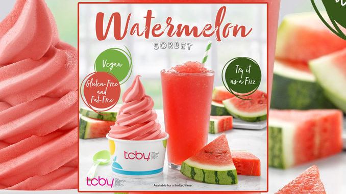 TCBY Welcomes Back Watermelon Sorbet For Summer 2020